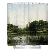 The Pond At Gylieu Shower Curtain