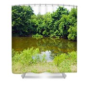 The Pond View Shower Curtain