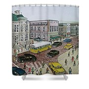 The Portsmouth Ohio Post Office On The Esplanade 1948 Shower Curtain