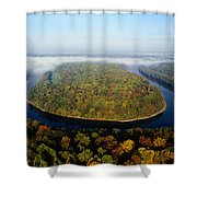 The Potomac River Makes A Hairpin Turn Shower Curtain