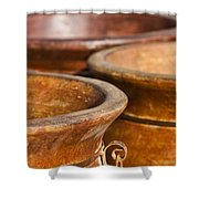 The Potters Terracotta Wares Shower Curtain