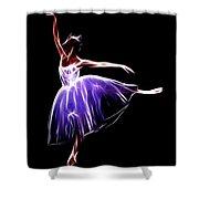 The Princess Dancer Shower Curtain
