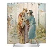 The Prodigal's Return Shower Curtain