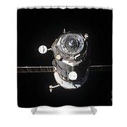 The Progress 46 Spacecraft Shower Curtain