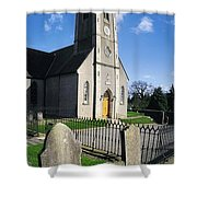 The Protestant Church, Delgany, Co Shower Curtain