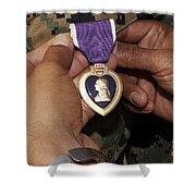 The Purple Heart Award Shower Curtain