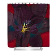 The Purple Lily Shower Curtain