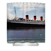 The Queen Mary Shower Curtain