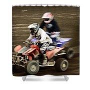 The Race To The Finish Line Shower Curtain