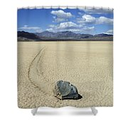 The Racetrack 11 Shower Curtain