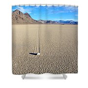 The Racetrack Playa Shower Curtain