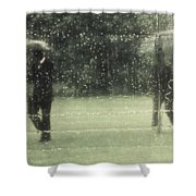 The Rain Shower Shower Curtain