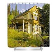 The Rainbow House Shower Curtain