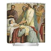 The Raising Of Jairus' Daughter Shower Curtain