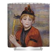 The Rambler Shower Curtain by Pierre Auguste Renoir