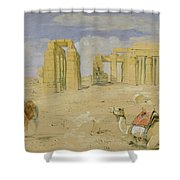 The Ramesseum At Thebes Shower Curtain
