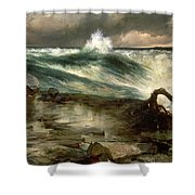 The Rapids Above Niagara Shower Curtain