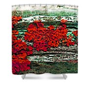 The Red Clouds Shower Curtain