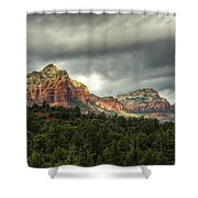 The Red Rocks Of Sedona  Shower Curtain