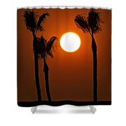 The Red Sunset  Shower Curtain