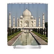 The Reflecting Pool In The Charbagh Or Shower Curtain