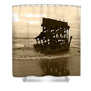 The Remains Of A Ship Shower Curtain