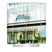The Restaurant With A View Of St Pauls Cathedral Shower Curtain