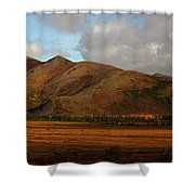 The Richardson Mountains At The Arctic Shower Curtain