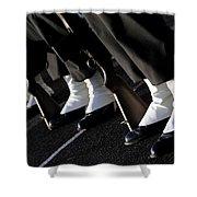 The Rifle Detail Aboard Uss Carl Vinson Shower Curtain