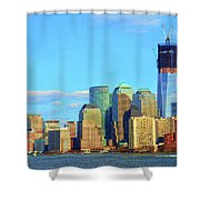 The Rising Freedom Tower Shower Curtain