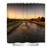 The River Exe At Tiverton Shower Curtain