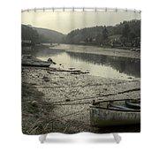 The River Fowey At Lerryn Shower Curtain