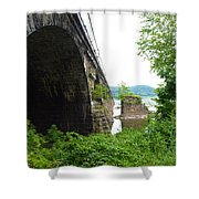the river in Pennsylvania Shower Curtain