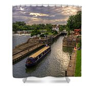 The River Thames At Goring Shower Curtain