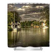 The River Thames At Streatley Shower Curtain