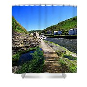 The River Valency At Boscastle Shower Curtain