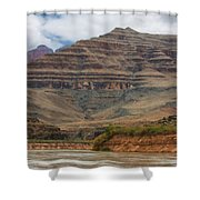 The Riverbend-grand Canyon Perspective Shower Curtain
