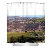 The Road Is Long Shower Curtain
