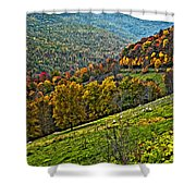 The Road To Glady Wv Painted Shower Curtain