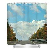 The Road To Heaven Shower Curtain
