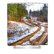 The Road To Spring Shower Curtain