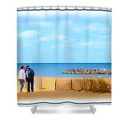 The Romantic Beach Shower Curtain
