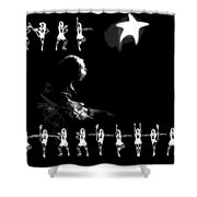 The Rory Rockettes Shower Curtain