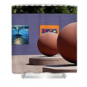 The Rounds Of Pershing Square Shower Curtain