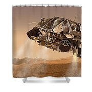 The Rover And Descent Stage For Nasas Shower Curtain