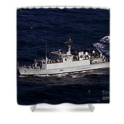 The Royal Navy Mine Countermeasures Shower Curtain