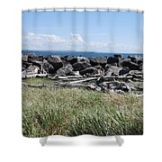 The Rugged Coast Shower Curtain