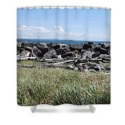 The Rugged Coast Shower Curtain