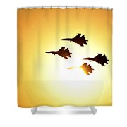 The Russian Knights Display Team Shower Curtain