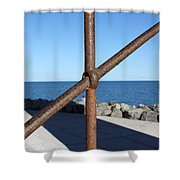 The Rust And The Sea Shower Curtain